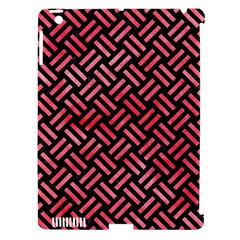 Woven2 Black Marble & Red Watercolor (r) Apple Ipad 3/4 Hardshell Case (compatible With Smart Cover) by trendistuff