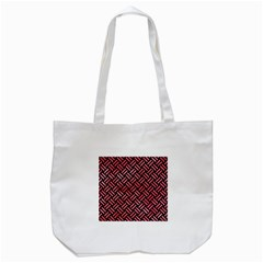 Woven2 Black Marble & Red Watercolor (r) Tote Bag (white) by trendistuff