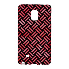 Woven2 Black Marble & Red Watercolor (r) Galaxy Note Edge by trendistuff