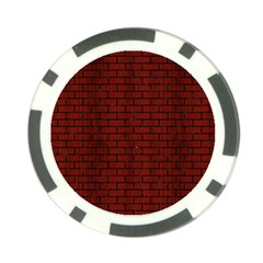 Brick1 Black Marble & Red Wood Poker Chip Card Guard by trendistuff