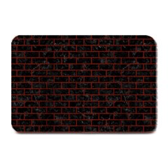 Brick1 Black Marble & Red Wood (r) Plate Mats by trendistuff