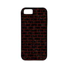 Brick1 Black Marble & Red Wood (r) Apple Iphone 5 Classic Hardshell Case (pc+silicone) by trendistuff