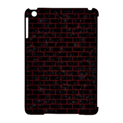 Brick1 Black Marble & Red Wood (r) Apple Ipad Mini Hardshell Case (compatible With Smart Cover) by trendistuff