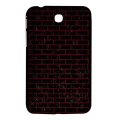Brick1 Black Marble & Red Wood (r) Samsung Galaxy Tab 3 (7 ) P3200 Hardshell Case  by trendistuff