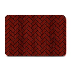 Brick2 Black Marble & Red Wood Plate Mats by trendistuff