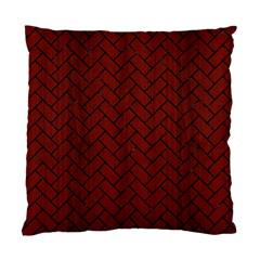 Brick2 Black Marble & Red Wood Standard Cushion Case (one Side) by trendistuff