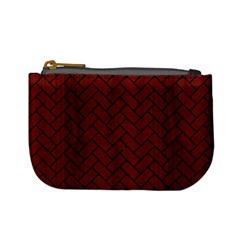 Brick2 Black Marble & Red Wood Mini Coin Purses by trendistuff