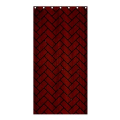Brick2 Black Marble & Red Wood Shower Curtain 36  X 72  (stall)  by trendistuff