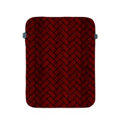 Brick2 Black Marble & Red Wood Apple Ipad 2/3/4 Protective Soft Cases by trendistuff