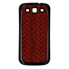 Brick2 Black Marble & Red Wood Samsung Galaxy S3 Back Case (black) by trendistuff