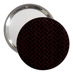 Brick2 Black Marble & Red Wood (r) 3  Handbag Mirrors by trendistuff