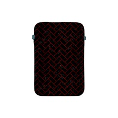 Brick2 Black Marble & Red Wood (r) Apple Ipad Mini Protective Soft Cases by trendistuff