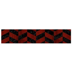 Chevron1 Black Marble & Red Wood Flano Scarf (small) by trendistuff