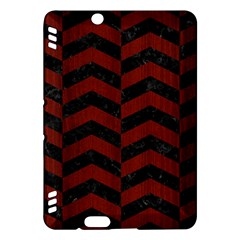 Chevron2 Black Marble & Red Wood Kindle Fire Hdx Hardshell Case by trendistuff