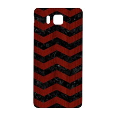 Chevron3 Black Marble & Red Wood Samsung Galaxy Alpha Hardshell Back Case by trendistuff