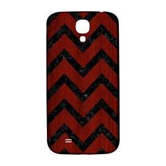 Chevron9 Black Marble & Red Wood Samsung Galaxy S4 I9500/i9505  Hardshell Back Case by trendistuff