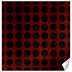 Circles1 Black Marble & Red Wood Canvas 20  X 20   by trendistuff