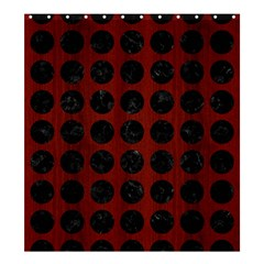 Circles1 Black Marble & Red Wood Shower Curtain 66  X 72  (large)  by trendistuff