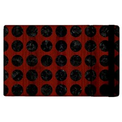 Circles1 Black Marble & Red Wood Apple Ipad 3/4 Flip Case by trendistuff