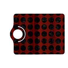Circles1 Black Marble & Red Wood Kindle Fire Hd (2013) Flip 360 Case by trendistuff
