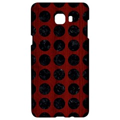Circles1 Black Marble & Red Wood Samsung C9 Pro Hardshell Case  by trendistuff