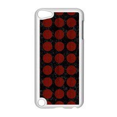 Circles1 Black Marble & Red Wood (r) Apple Ipod Touch 5 Case (white) by trendistuff