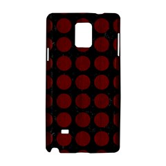 Circles1 Black Marble & Red Wood (r) Samsung Galaxy Note 4 Hardshell Case by trendistuff