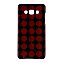 Circles1 Black Marble & Red Wood (r) Samsung Galaxy A5 Hardshell Case  by trendistuff