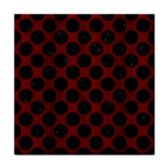 Circles2 Black Marble & Red Wood Tile Coasters by trendistuff