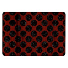 Circles2 Black Marble & Red Wood Samsung Galaxy Tab 8 9  P7300 Flip Case by trendistuff