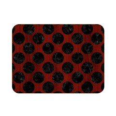 Circles2 Black Marble & Red Wood Double Sided Flano Blanket (mini)  by trendistuff