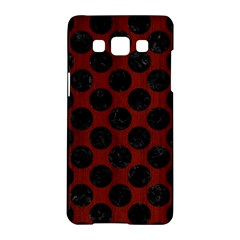 Circles2 Black Marble & Red Wood Samsung Galaxy A5 Hardshell Case  by trendistuff