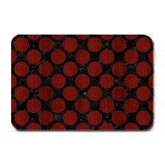 Circles2 Black Marble & Red Wood (r) Plate Mats by trendistuff