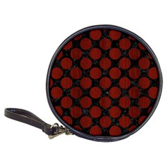 Circles2 Black Marble & Red Wood (r) Classic 20 Cd Wallets by trendistuff