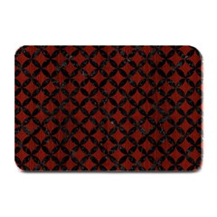Circles3 Black Marble & Red Wood Plate Mats by trendistuff