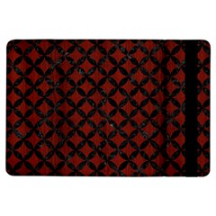 Circles3 Black Marble & Red Wood Ipad Air Flip by trendistuff