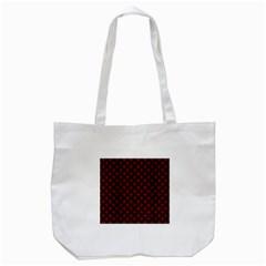 Circles3 Black Marble & Red Wood Tote Bag (white) by trendistuff