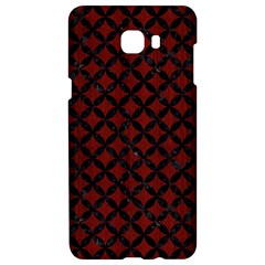 Circles3 Black Marble & Red Wood Samsung C9 Pro Hardshell Case  by trendistuff