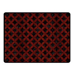 Circles3 Black Marble & Red Wood (r) Fleece Blanket (small) by trendistuff