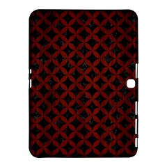 Circles3 Black Marble & Red Wood (r) Samsung Galaxy Tab 4 (10 1 ) Hardshell Case