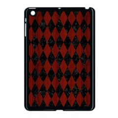 Diamond1 Black Marble & Red Wood Apple Ipad Mini Case (black) by trendistuff