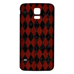 Diamond1 Black Marble & Red Wood Samsung Galaxy S5 Back Case (white) by trendistuff
