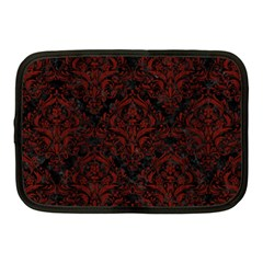 Damask1 Black Marble & Red Wood (r) Netbook Case (medium)  by trendistuff