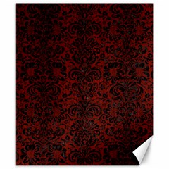Damask2 Black Marble & Red Wood Canvas 8  X 10  by trendistuff