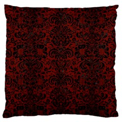 Damask2 Black Marble & Red Wood Large Cushion Case (two Sides) by trendistuff