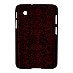 Damask2 Black Marble & Red Wood (r) Samsung Galaxy Tab 2 (7 ) P3100 Hardshell Case