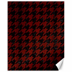 Houndstooth1 Black Marble & Red Wood Canvas 16  X 20   by trendistuff