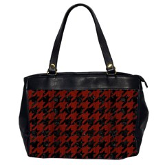 Houndstooth1 Black Marble & Red Wood Office Handbags (2 Sides)  by trendistuff
