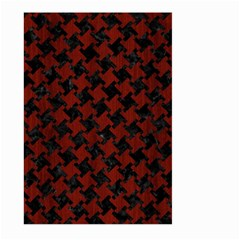 Houndstooth2 Black Marble & Red Wood Large Garden Flag (two Sides) by trendistuff