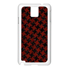 Houndstooth2 Black Marble & Red Wood Samsung Galaxy Note 3 N9005 Case (white)